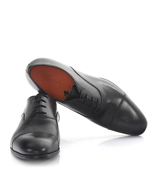 Santoni | Derby 11011 Leather Black for Men | Lyst