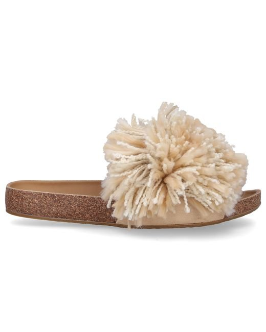 6f3cb47699b0 Lyst - UGG Cindy Beige Shaggy Slides in Natural - Save 75%