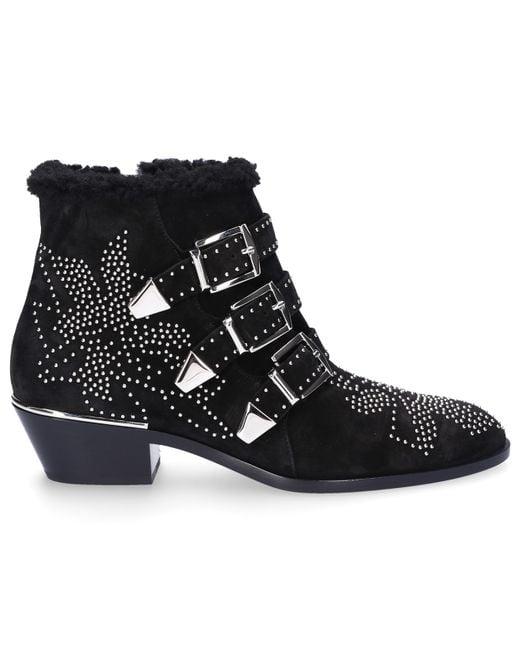Chloé - Black Susanna Ankle Boots - Lyst