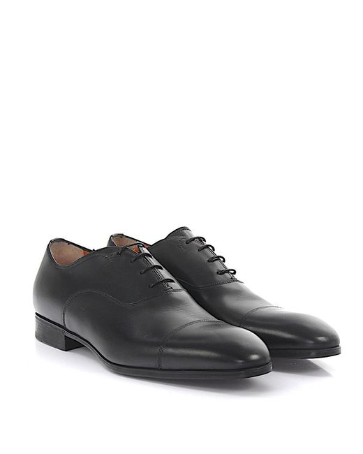 Santoni | Derby 11011 Leather Black for Men | Lyst