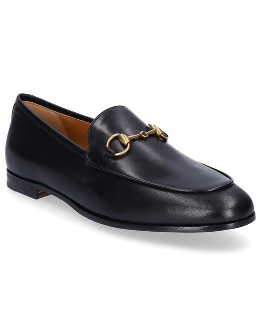Gucci - Slip On Shoes Jordaan Smooth Leather Horsebit-detail Black - Lyst