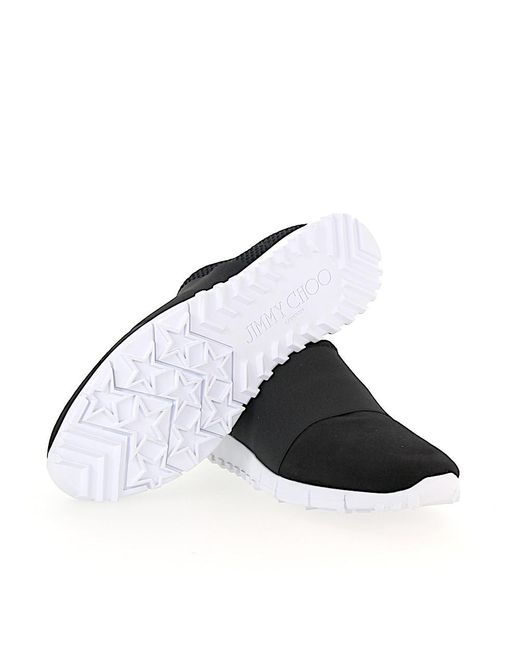 quality design c9a1e f30a4 jimmy-choo-black-Slip-on-Sneaker-Low-Oakland-Mesh-Nylon-Suede-Black.jpeg