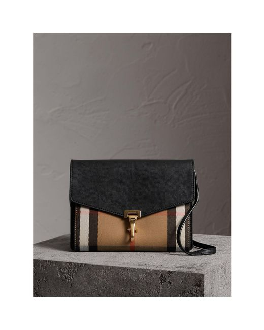 Burberry - Black House Checked Cross-Body Bag - Lyst