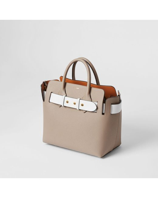 ed55a3aa271b ... Burberry - Gray The Medium Tri-tone Leather Triple Stud Belt Bag - Lyst  ...