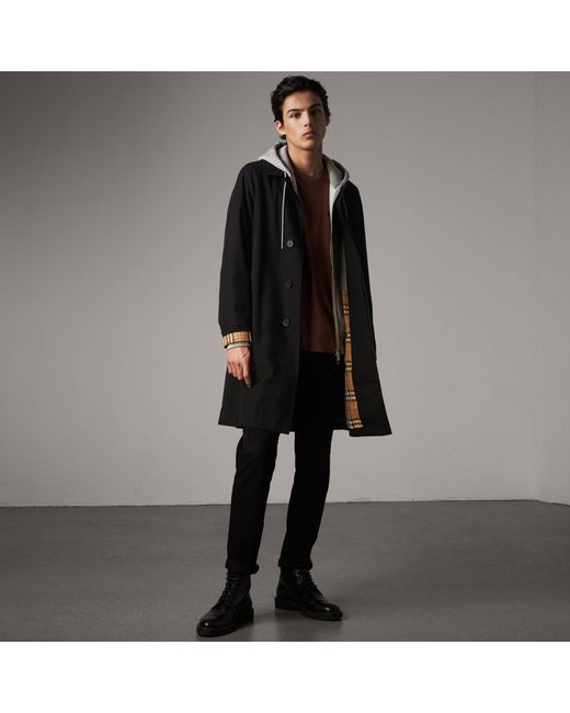 Burberry - The Camden – Long Car Coat In Black - Men | for Men - Lyst