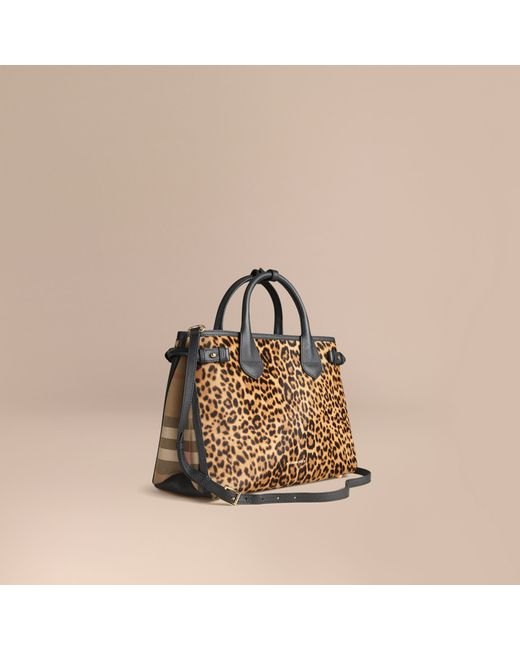 Burberry | The Medium Banner Animal Print Calfskin Bag | Lyst