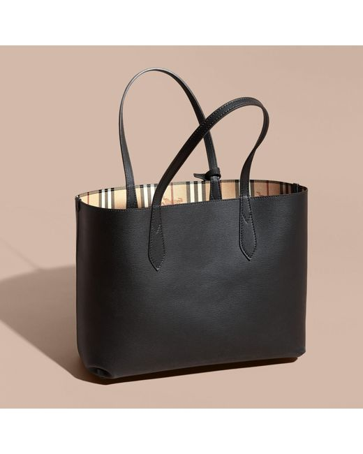 Burberry The Medium Reversible Tote In Haymarket Check And ...