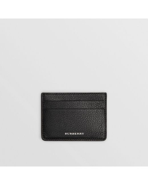 Burberry - Black Grainy Leather Card Case for Men - Lyst