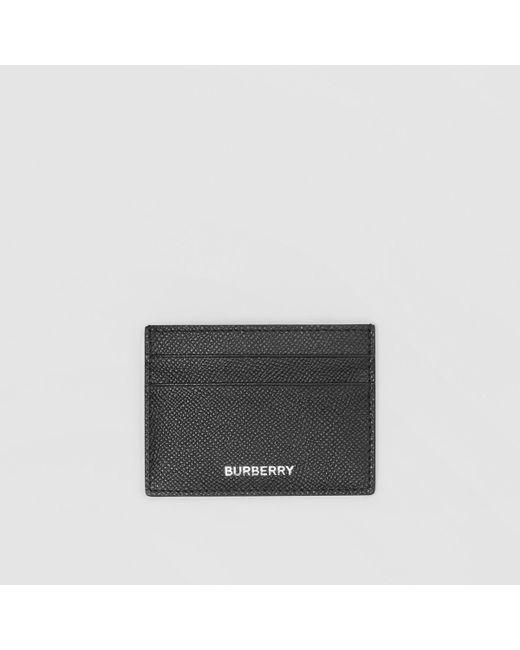 Burberry - Black Sandon Leather Card Holder for Men - Lyst