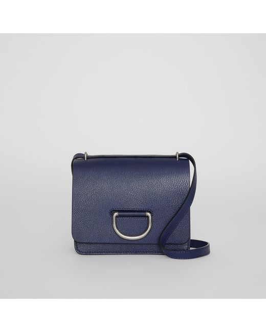77fd49c1b8 Burberry - Blue The Small Leather D-ring Bag - Lyst ...