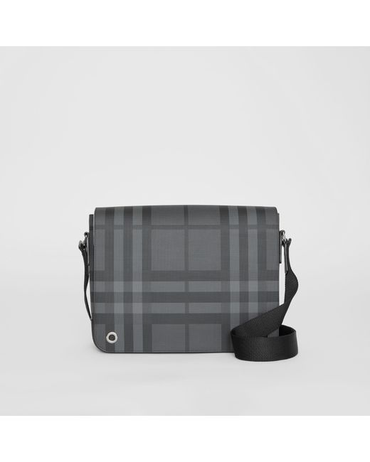 9b5cf5f42fad Burberry - Black Small London Check Satchel for Men - Lyst ...