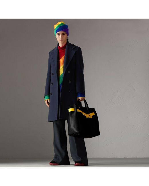 Burberry - Multicolor Rainbow Wool Cashmere Sweater for Men - Lyst