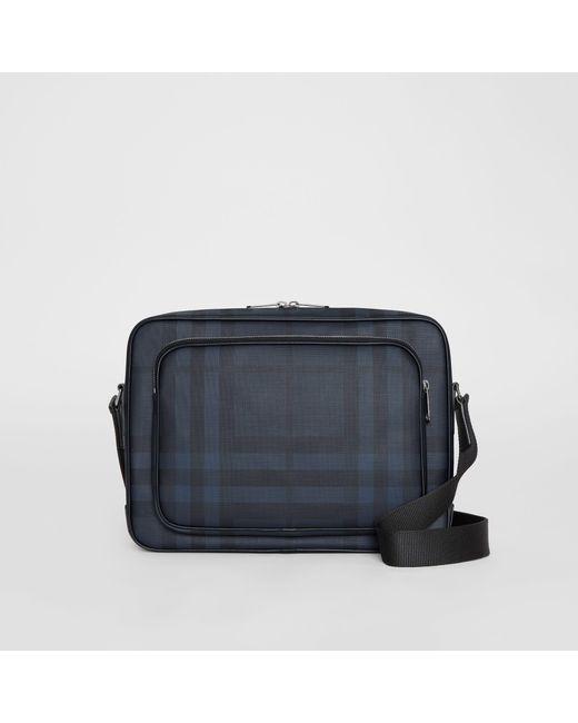 Burberry - Blue London Check Messenger Bag for Men - Lyst ... 80be7795b87b0