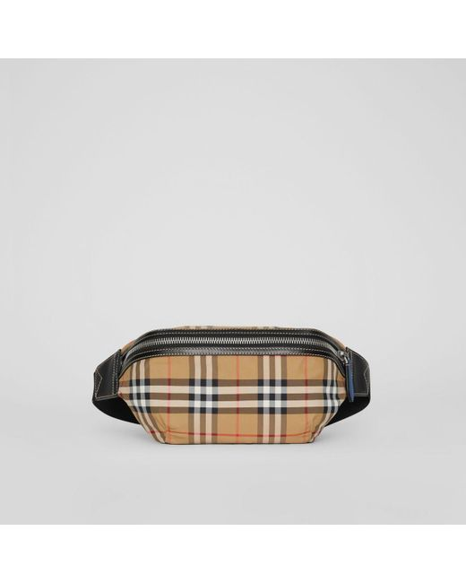 29345164f315 ... Burberry - Multicolor Medium Vintage Check Bum Bag for Men - Lyst ...