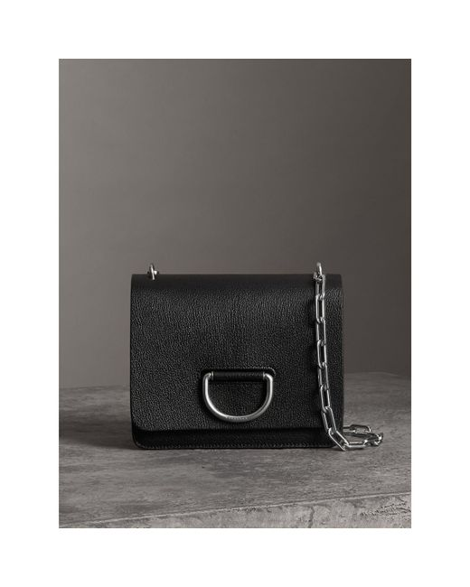 5b57275d6f8b Lyst - Burberry The Small Leather D-ring Bag in Black - Save 8%