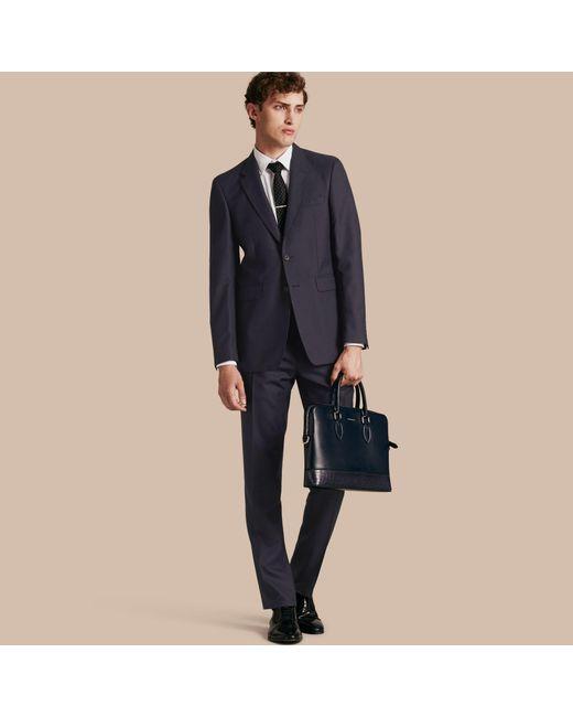 Burberry - Blue Modern Fit Wool Part-canvas Suit Navy for Men - Lyst
