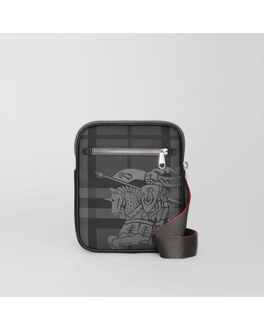 Burberry - Black Slim Ekd London Check Crossbody Bag for Men - Lyst ... 24aeee9aaa324