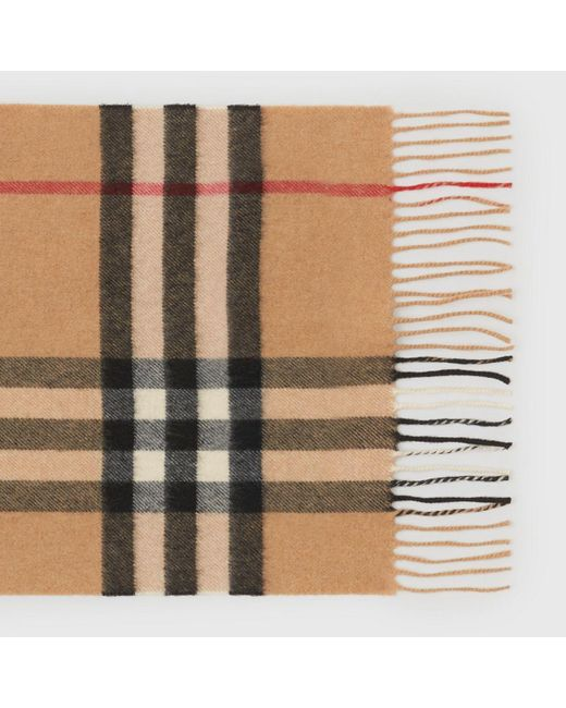 eee466b2e89d ... Burberry - Natural Heritage Check Classic Cashmere Scarf - Lyst ...