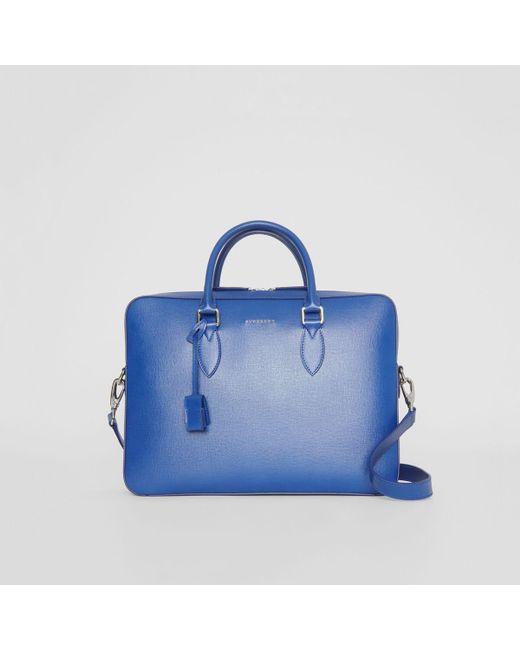 254b38dea8 Burberry - Blue London Leather Briefcase for Men - Lyst ...