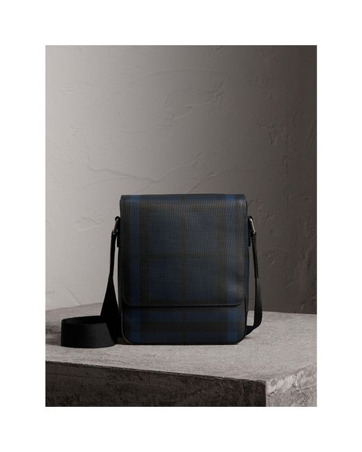 Burberry - Blue London Check Crossbody Bag Navy/black for Men - Lyst