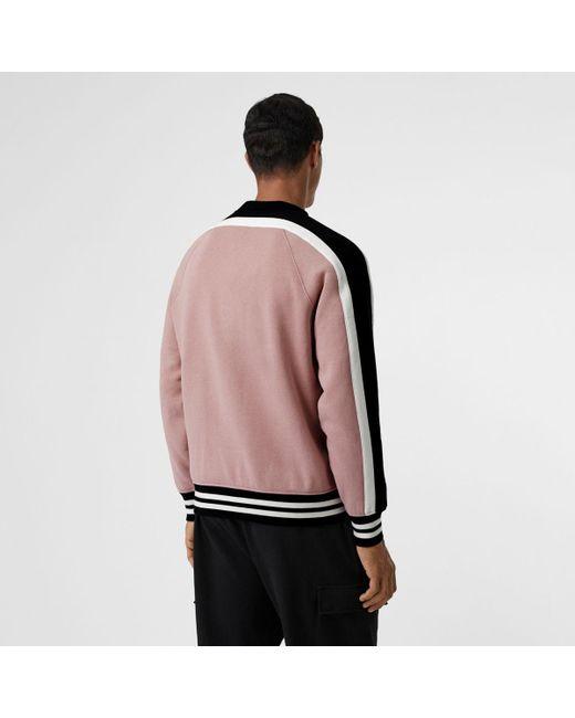 0b18c57c7f93 ... Burberry - Multicolor Stripe Detail Cotton Jersey Sweatshirt for Men -  Lyst ...