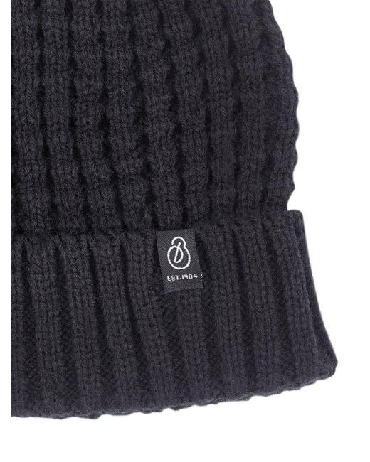 f4cd44746ad Burton Black Textured Beanie in Black for Men - Lyst