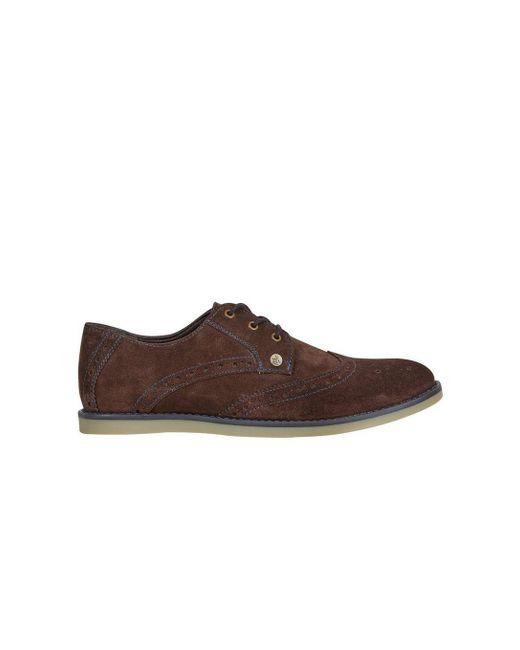 Burton - Penguin Brown Suede Brogue Shoes for Men - Lyst