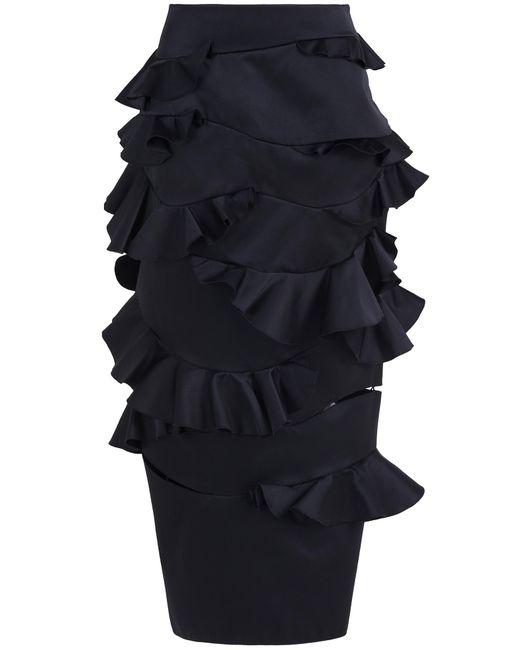 Maison Rabih Kayrouz   Black Ruffle Skirt   Lyst