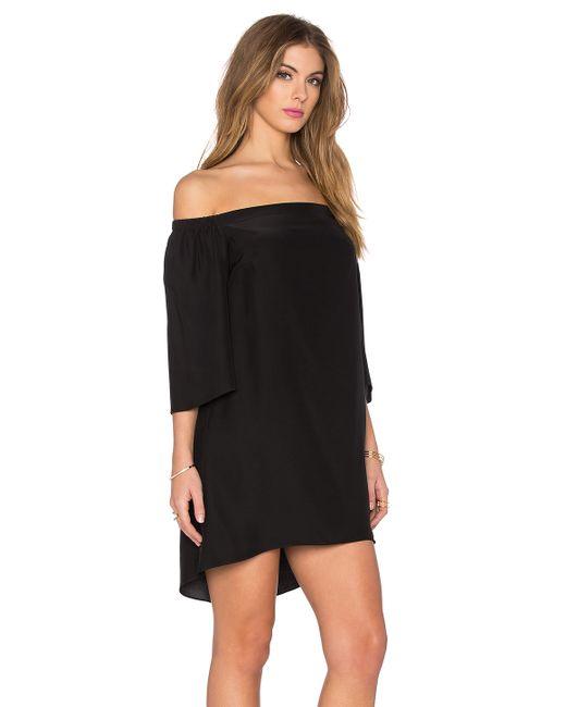 Amanda Uprichard Nirvana Silk Dress In Black Lyst