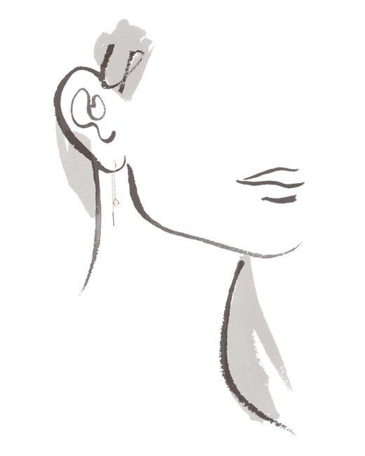 Melissa Joy Manning | Metallic Herkimer Diamond Horseshoe Chain Earrings | Lyst