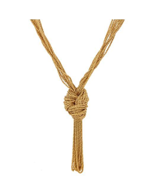 Aurelie Bidermann | Metallic Knotted Rope Necklace | Lyst