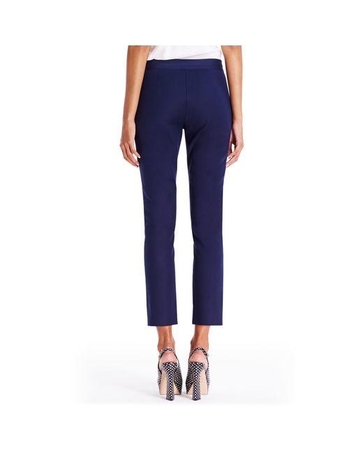 Diane von Furstenberg   Blue Dvf Genesis Cropped Trousers   Lyst
