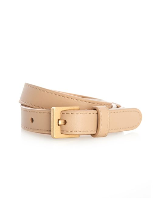 Balenciaga | Natural Stud Wrap-Around Leather Bracelet | Lyst