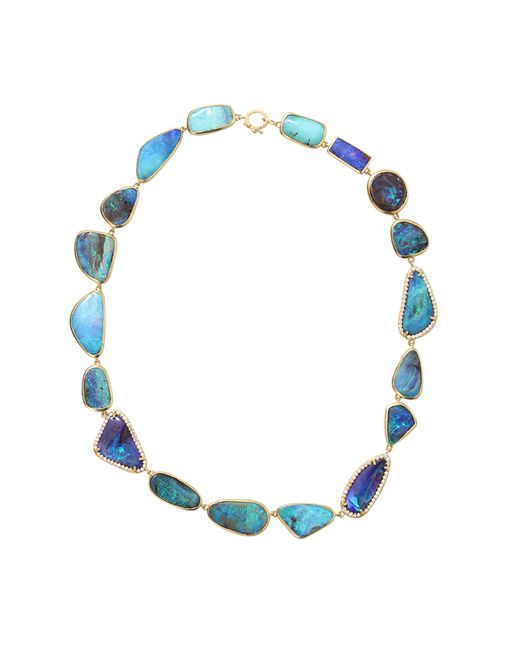 Irene Neuwirth | Blue Boulder Opal And Diamond Necklace | Lyst