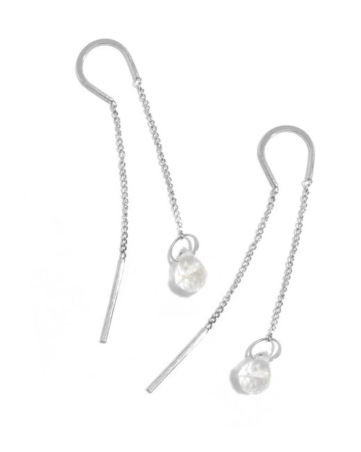 Melissa Joy Manning | Metallic White Topaz Drop Horseshoe Chain Earrings | Lyst