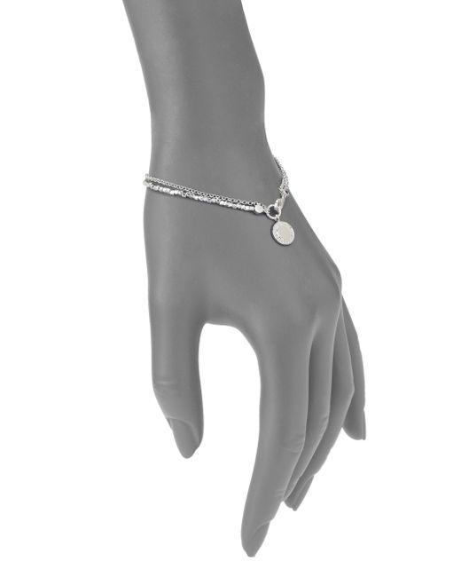 Astley Clarke | Metallic Biography White Sapphire & Sterling Silver Cosmos Beaded Friendship Bracelet | Lyst