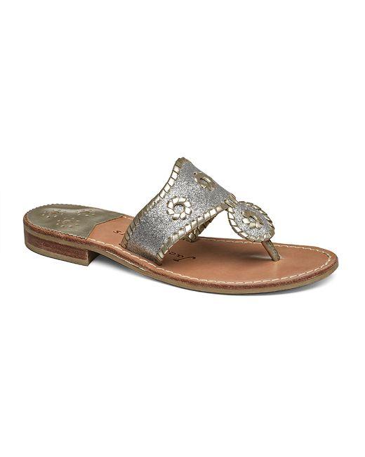 Jack Rogers | Metallic Sparkle Sandal | Lyst