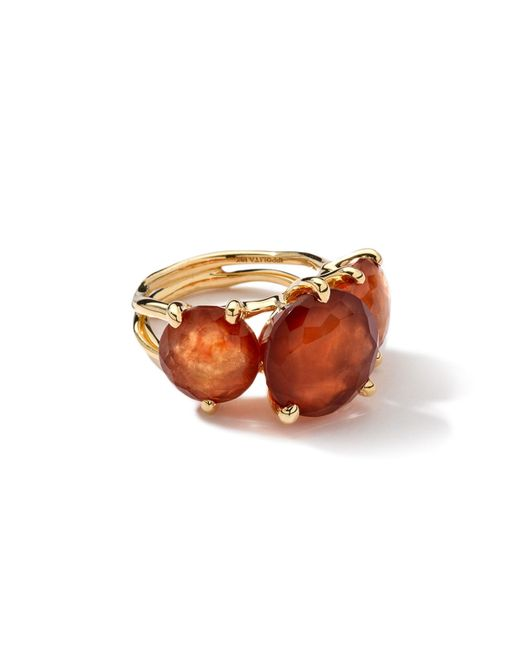 Ippolita   Metallic 18k 3-stone Hessanite Garnet Ring   Lyst