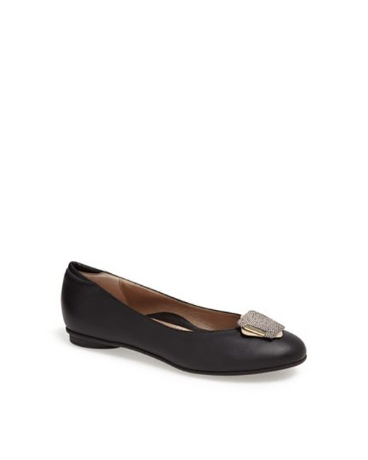 Beautifeel | Black 'shelly' Leather Flat | Lyst
