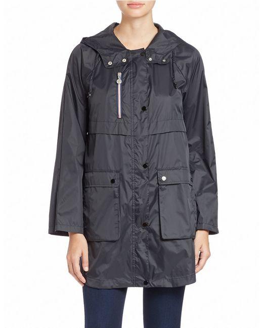 Bernardo | Black Packable Hooded Anorak | Lyst