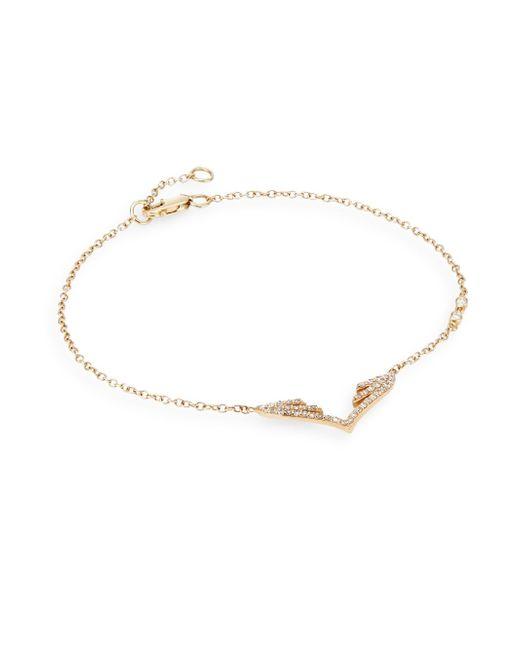 Phyne By Paige Novick | Metallic Diamond & 14k Yellow Gold Wing Chain Bracelet | Lyst
