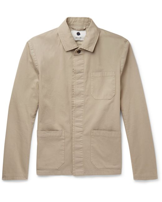 Nn07 Oscar Slim Fit Cotton Blend Canvas Field Jacket In