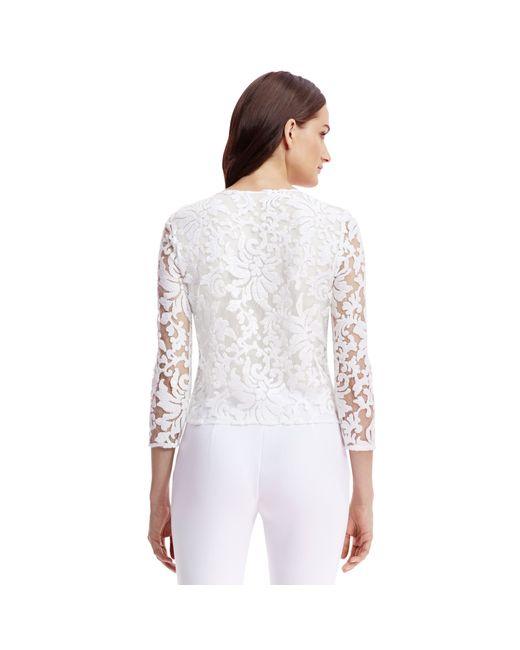 Diane von Furstenberg | White Dvf Belle Embellished Lace Top | Lyst