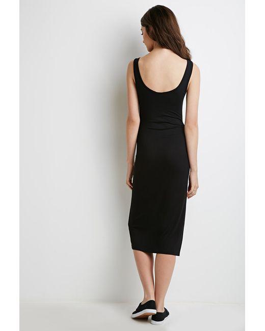 Forever 21 | Black Classic Midi Dress | Lyst