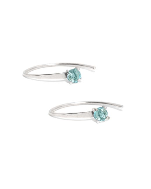 Melissa Joy Manning | Mini Wishbone Earrings With Blue Topaz | Lyst