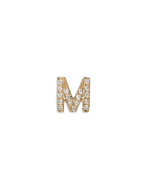 Loquet London | Metallic Diamond 18k Yellow Gold Letter Charm - M | Lyst