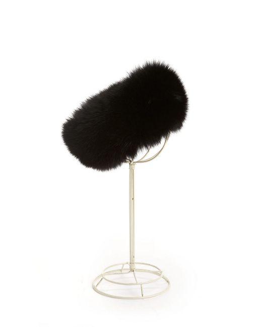 Surell | Black Fox Fur Headband | Lyst