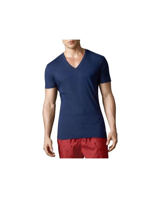 Polo Ralph Lauren   Blue V-neck Tees, Pack Of 3 for Men   Lyst