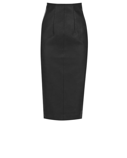 oasis high waisted pencil skirt in gray lyst