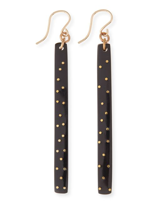 Ashley Pittman | Black Konga Dark Horn Starry Stick Earrings | Lyst